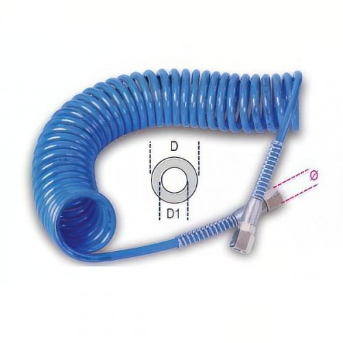 шланг спиральный, разъемы с внутренней резьбой 1/4 BSP, dxD=5х8мм, 8м - 1