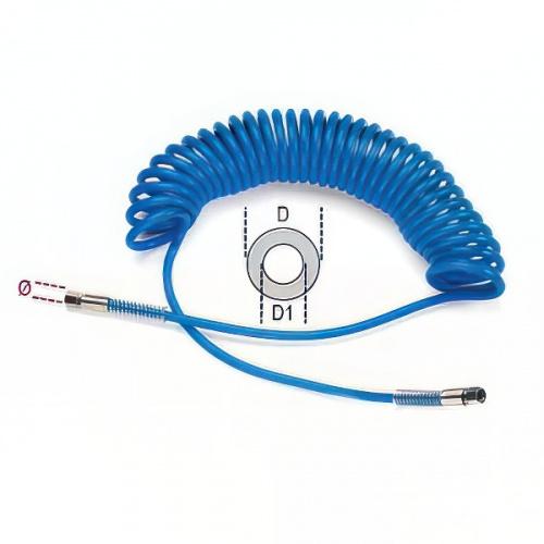 шланг спиральный, разъемы с внутренней резьбой 1/4 BSP, dxD=6,5х10мм, 9м - 1