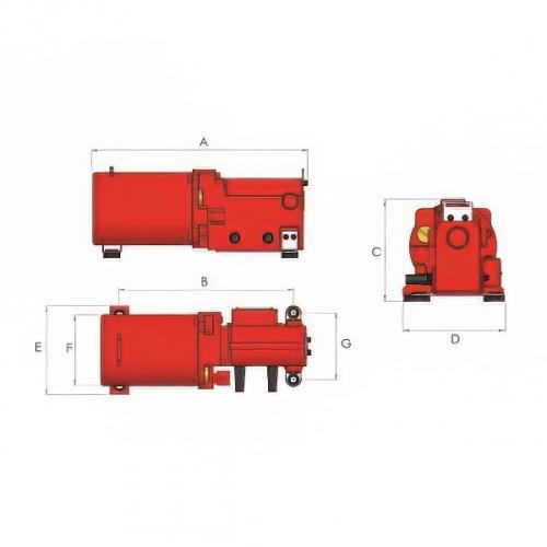 гидростанция компактная 2-скоростная с электроприводом (220В), объем 0,8 л - 1