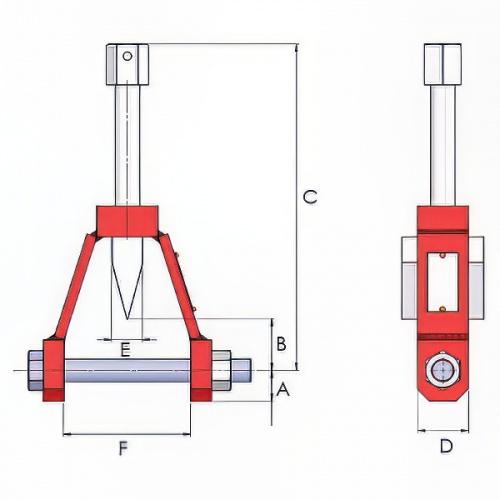 разгонщик фланцев механический, диаметр штифта 16мм - 1