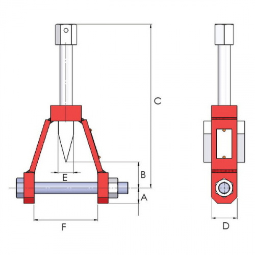 разгонщик фланцев механический, диаметр штифта 19мм - 1